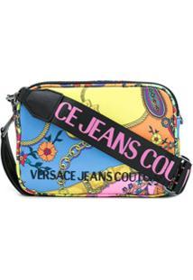 Versace Jeans Couture Bolsa Transversal Com Estampa Paisley Fantasy - Azul