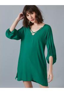 Vestido Curto Decote X Verde / P