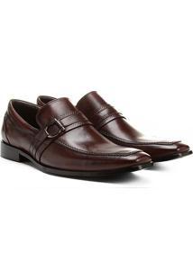 Sapato Social Shoestock Sola Couro Fivela - Masculino