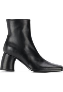 Ann Demeulemeester Ankle Boot Com Salto Bloco - Preto