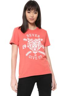 Camiseta Ellus 2Nd Floor Co Fine Give Up Laranja