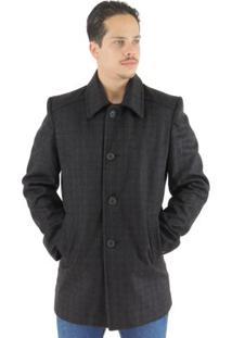Sobretudo Masculino Moscow Em Lã Premium - Masculino-Preto