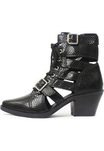 Bota Gladiadora Damannu Shoes Jennie Preto - Kanui