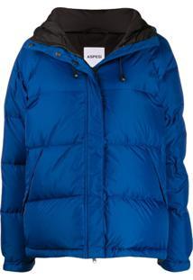 Aspesi Hooded Padded Puffer Jacket - Azul