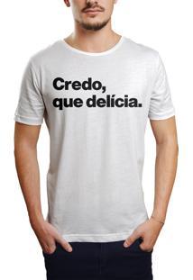 Camiseta Hunter Credo, Que Delícia Branca
