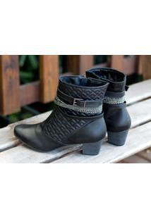 Ankle Boot Dm Extra Preto Dme17383036 Npp Numeração Especial Tamanhos Grandes 41 42 43