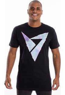 Camiseta Manga Curta Valks Estampada Preta