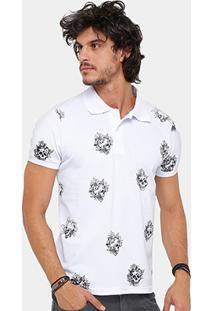 Camisa Polo Local Piquet Skull Tattoo Masculina - Masculino