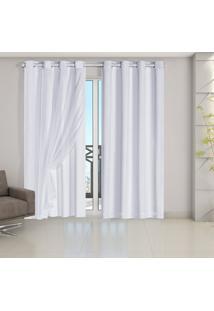 Cortina Blackout Pvc Com Tecido Voil 2,80 M X 2,80 M Branco - Multicolorido - Dafiti