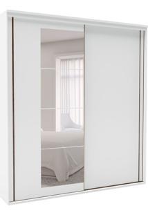 Guarda-Roupa Casal Inovatto Com Espelho 2 Pt 6 Gv Branco