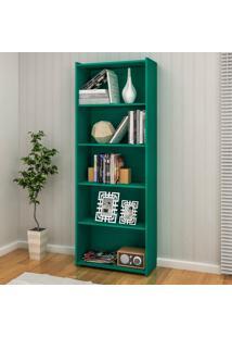 Estante Para Livros Biblioteca M Esm 201 Turquesa - Móvel Bento