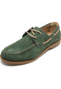 Sapato Couro Cavalera Cadarço Verde