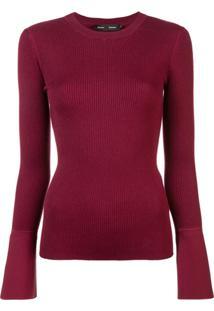 Proenza Schouler Blusa De Tricô Canelada - Vermelho