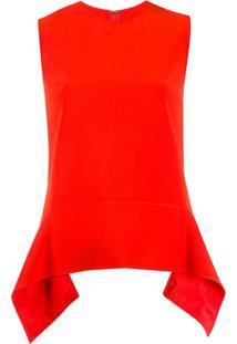 Victoria Victoria Beckham Regata Assimétrica - Vermelho