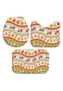 Jogo Tapete Love Decor Para Banheiro Happy Christmas Único
