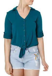 Camisa Manga 3/4 Feminina Autentique Verde