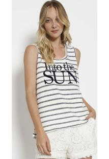 "Regata ""Into The Sun"" - Off White & Azul Marinhocanal"