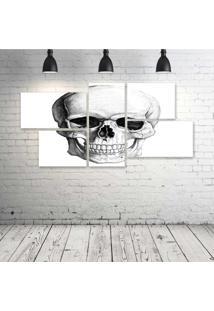 Quadro Decorativo - Skull2 - Composto De 5 Quadros - Multicolorido - Dafiti