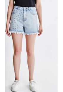 Short Hot Pants Com Tachas