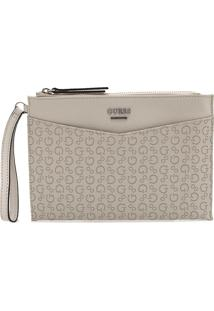 Clutch Guess Monograma Off-White