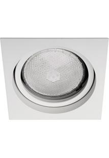 Spot De Embutir Quadrado Basculante Microgranulado 14,5X14,5Cm Branco