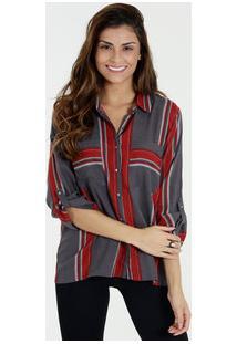 Camisa Feminina Estampa Listrada Marisa