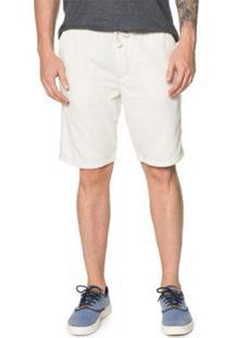 Bermuda Timberland Jogging Cotton Masculina - Masculino-Branco