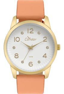 Okulos. Relógio Condor Feminino Unissex Transparente Analógico Ouro ... e8a3c82647