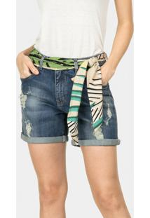 Bermuda Boyfriend Venice Cinto Jeans - Lez A Lez