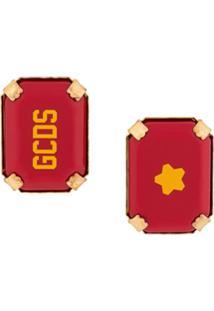 Gcds Par De Brincos Star Rocks Com Logo - Vermelho