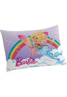 Fronha Avulsa Estampada Barbie Reinos Mágicos 50 Cm X 70 Cm Com 1 Peça Lepper Lilas