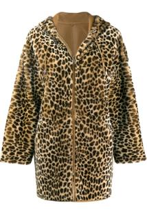 P.A.R.O.S.H. Sobretudo Animal Print - 806 Neutral