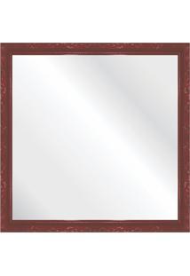 Espelho Brilho Rococo Vermelho 46X46Cm