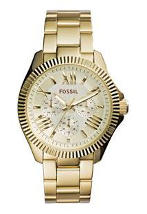 e5ac1085dc7 Off Premium. Relógio Dourado Feminino Fossil ...