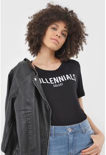 Camiseta Colcci Millennials Preta