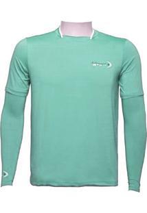 Camiseta Ml Dryfit Gola Filete Fishing Co. Blue Bird Ufp 50+ Ref. 1027