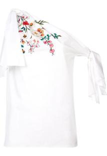 Carolina Herrera Blusa Com Aplicação Floral - Branco