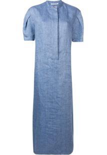 Agnona Blusa Mangas Curtas - Azul
