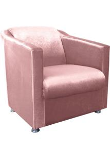 Poltrona Decorativa Tilla Para Sala E Recepção Acetinado Rose - D'Rossi