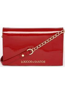Bolsa Transversal Com Tag- Vermelha- 15X21X7Cmloucos E Santos