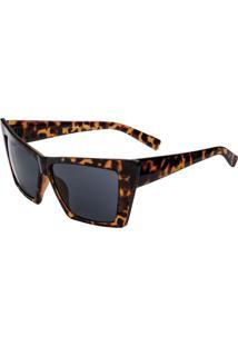 Óculos De Sol Ray Flector Vtg583 Co Onça Preto