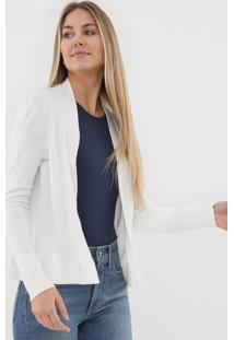 Cardigan Gap Tricot Liso Off-White