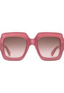 Gucci Eyewear Óculos De Sol Quadrado - Rosa