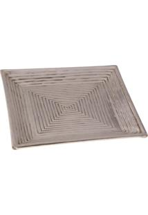Bandeja- Pashmina- Bronze Square Tray- Marrom