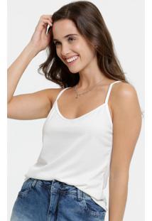Blusa Feminina Canelada Alças Finas