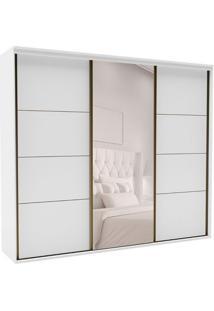 Guarda-Roupa Casal Com Espelho Eleganza L 3 Pt 6 Gv Branco