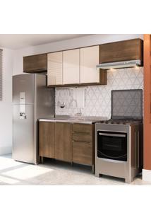 Cozinha Compacta Áustria Ii 7 Pt 3 Gv Marrom