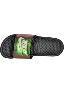 Chinelo Slide Preto Benassi Just Do It Print Feminino Nike 58305049