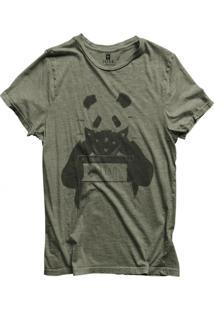 Camiseta Masculina Joss Pandanado Cinza Médio