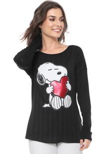 Blusa Cativa Snoopy Snoopy Preta